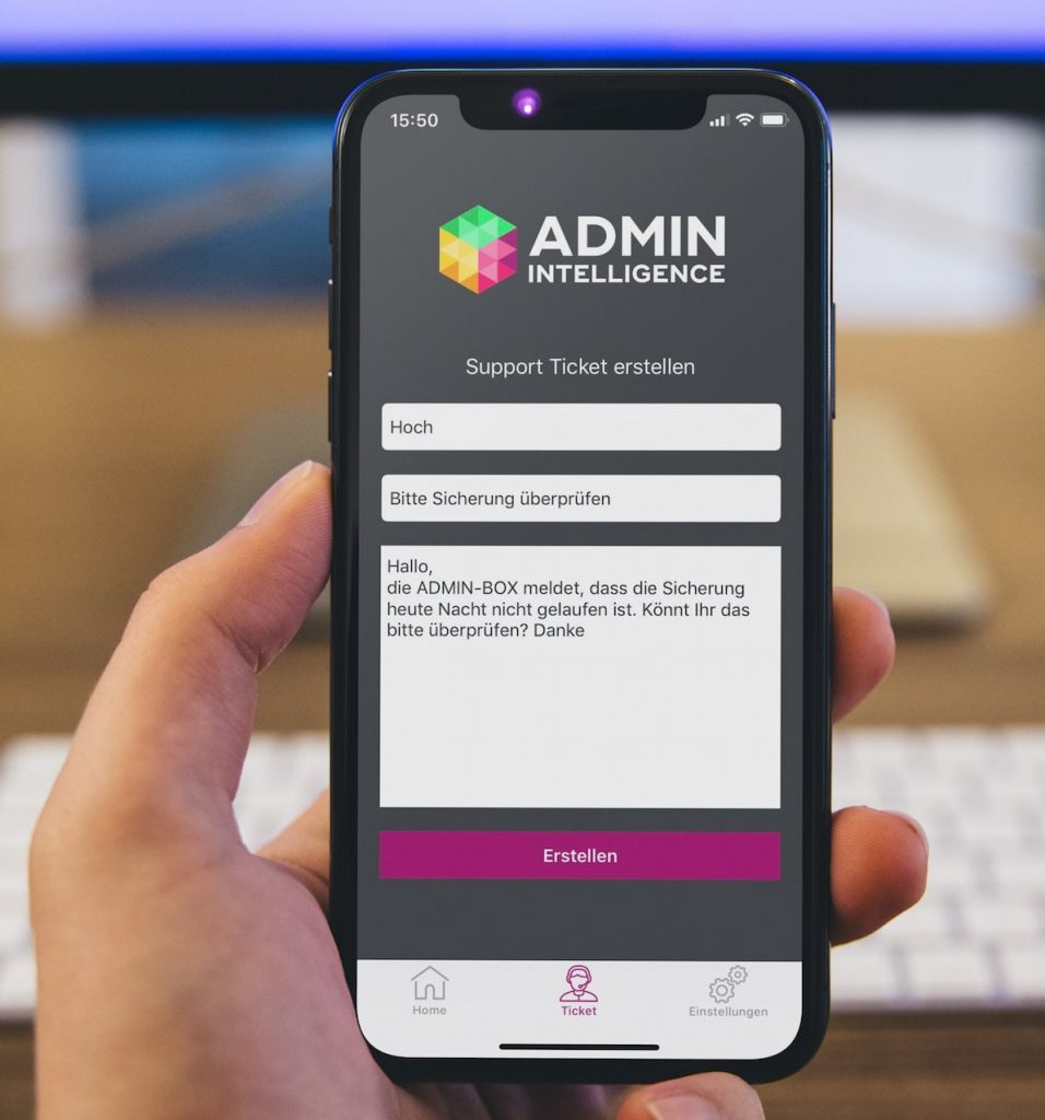 ADMIN INTELLIGENCE App Ticketsystem